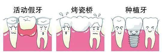 不同的假牙